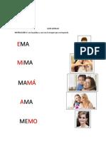 Guía Letra m