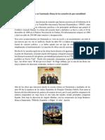 Historia Del Teatro en Guatemala desde los acuerdos de paz a la actualidad