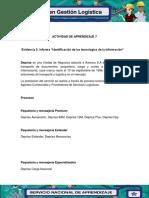 3.Evidencia 3 Informe Identificacion de Las Tecnologias de La Informacion