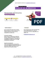 Manual Manipulador de Alimentos Coformacion Formato PDF