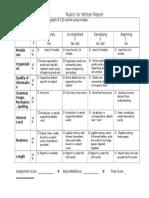 written report evaluation