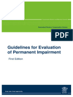Guidelines to Evaluation of Permanent Impairment