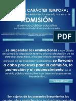 REGLAS DE CARACTER TEMPORAL PARA EL SERVICIO EDUCATIVO-2019