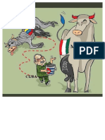 Caricatura Cuba Venezuela México