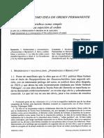 El Derecho Como Idea de Orden Permanente en h. Kelsen
