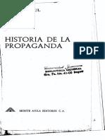 Historia de la propaganda - Jacques Ellul