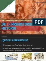 De la Prehistoria a la Historia.