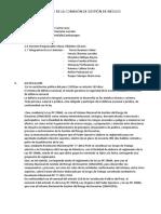 Informe de La Comisión de Gestión de Riesgos
