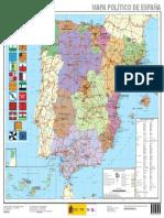 Espana Mapa Politico de Espana 1 3.000.000 2015 Mapa 14465 Spa