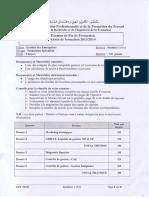 Examen de Fin de Formation Tsge 2013 2014