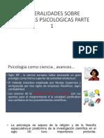 Generalidades Escuelas Psicologicas Parte 1
