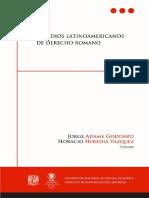 Estudios Latinoamericanos Del Derecho Romano_Goddard y Vázquez