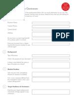 Logo Questionnaire Form Fillable