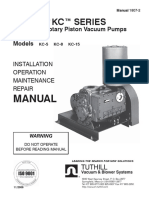Kinney KC Rotary Piston Vacuum Pump Manual