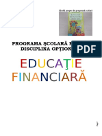 Educatie Financiara Programa Scolara Optional