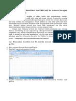 Cara Memasukan Koordinat Dari Microsoft Excel Ke Autocad