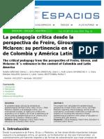 Pedagogia Critica Articulo