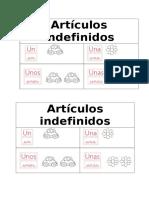 Artículos Indefinidos y Receta.