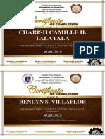 Certificate Robotics dfas