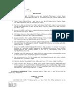 Sample Affidavit for Defense
