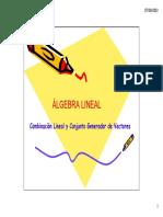 Combin Lineal y Conjunto Generador