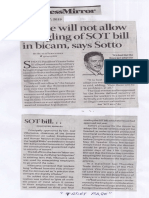 Business Mirror, May 27, 2019, Senate will not allow mangling of SOT bill in bicam, says Sotto.pdf