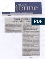 Daily Tribune, May 27, 2019, Hassle-free relief goods delivery seen.pdf