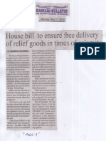 Manila Bulletin, May 27, 2019, House bill to ensure free delivery of relief goods in times of calamity.pdf