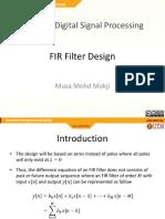 M13 - FIR Filter Design_updatedMay2018