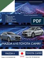 Toyota Camry vs Mazda 6 (2018)