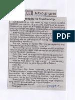 Ngayon, May 27, 2019, Gapangan for Speakership.pdf