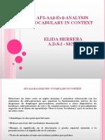 Presentación1 AP5-AA2-Ev2-Analysis Vocabulary in Context - Elida Herrera