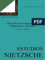 La lucha del lenguaje. Wittgenstein vs Nietzsche