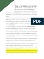 DEFINICIÓN DEREACCIONES REDOX