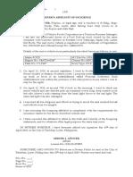 Affidavit of Incident- Template