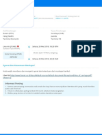 E-tiket Penerbangan Pergi Anda - No. Pesanan 99919052444610977 (9201905244464494)