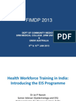 4_Health Workforce Training India - Introducing EIS Training Program