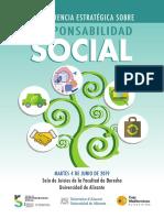 II Conferencia Estratégica sobre Responsabilidad Social. Junio 2019. Fundación Caja Mediterráneo