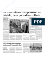 Mercado Financiero Peruano Es Estable, Pero Poco Desarrollado
