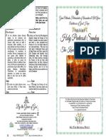 2019 - 16 June - 8 Pascha - Pentecost Kneeling Vespers