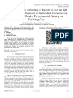 Research Factors Affecting to Decide to use the QR Code Service in Payment of Individual Customers at Commercial Banks