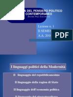 Storia Del Pensiero Politico 2018-19 I