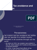 Part v Tax Avoidance and Evasion
