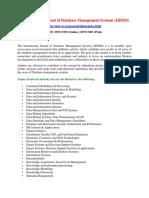 International Journal of Database Management Systems IJDMS