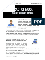 Weekly Current Affairs PDF for the month of May