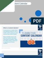 Creating Content Calendar