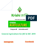 General Agriculture for JRF & SRF- 2019