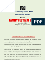 Family Festival 2019 Proposal