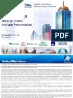 9M 2018 GT Capital Investor Presentation v5 - Online