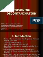 Poisoning Decontamination